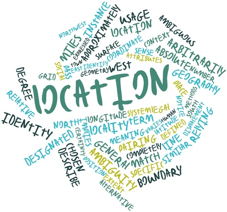 Abstract word cloud for Location with related tags and terms Stock Photo - 17021641