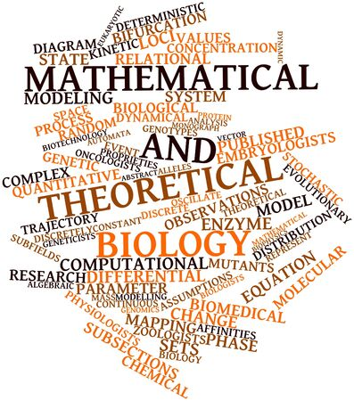 intracellular: Abstract word cloud for Mathematical and theoretical biology with related tags and terms