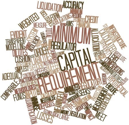 Abstract word cloud for Minimum capital requirement with related tags and terms Stock Photo - 17029547