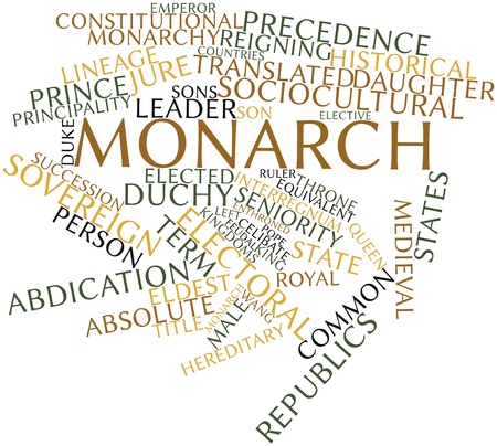 deposed: Abstract word cloud for Monarch with related tags and terms