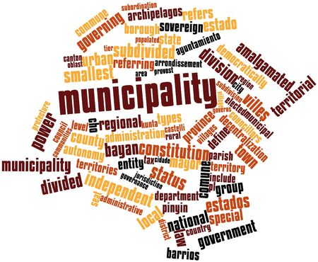 decentralization: Abstract word cloud for Municipality with related tags and terms