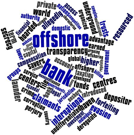 criticised: Abstract word cloud for Offshore bank with related tags and terms