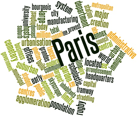 riots: Abstract word cloud for Paris with related tags and terms