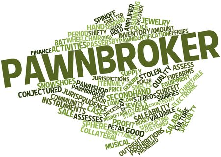 Abstract word cloud for Pawnbroker with related tags and terms Stock Photo - 17020617