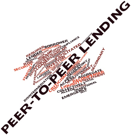 peer: Abstract word cloud for Peer-to-peer lending with related tags and terms