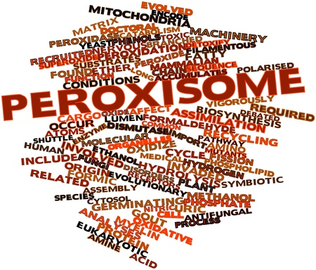 receptors: Abstract word cloud for Peroxisome with related tags and terms