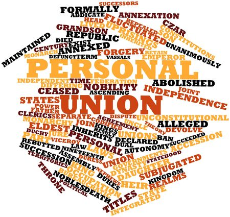 Abstract word cloud for Personal union with related tags and terms Stock Photo - 17024555
