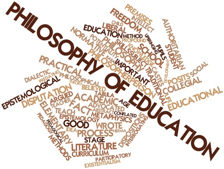 dialectic: Abstract word cloud for Philosophy of education with related tags and terms Stock Photo
