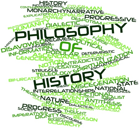 bifurcation: Abstract word cloud for Philosophy of history with related tags and terms Stock Photo