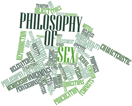 Abstract word cloud for Philosophy of sex with related tags and terms Stock Photo - 17023719