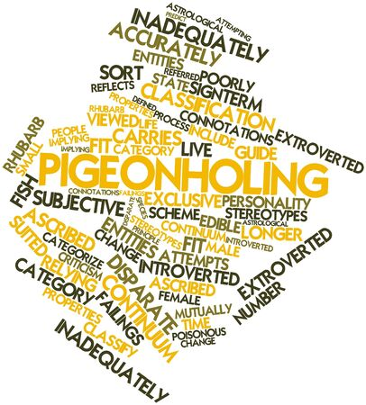poorly: Abstract word cloud for Pigeonholing with related tags and terms