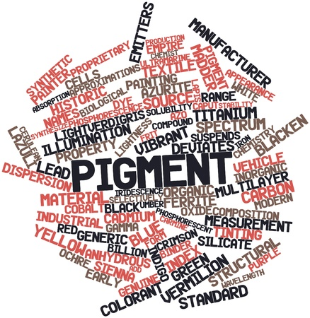 Abstract word cloud for Pigment with related tags and terms Stock Photo - 17029423
