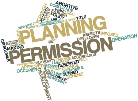 permitted: Abstract word cloud for Planning permission with related tags and terms
