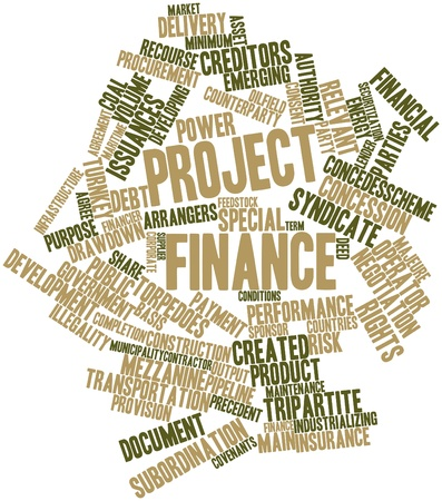 feedstock: Abstract word cloud for Project finance with related tags and terms