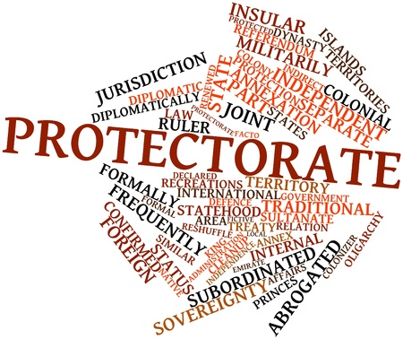 surrendering: Abstract word cloud for Protectorate with related tags and terms