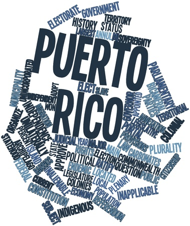 Abstract word cloud for Puerto Rico with related tags and terms Stock Photo - 17024567