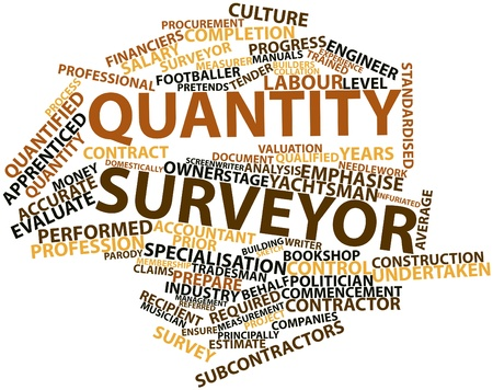 Abstract word cloud for Quantity surveyor with related tags and terms Stock Photo - 17023571