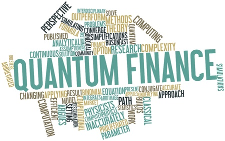 assumption: Abstract word cloud for Quantum finance with related tags and terms