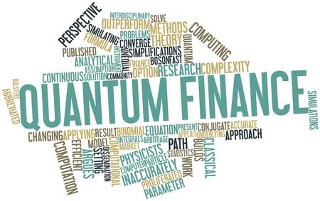 contextual: Nube palabra abstracta para Quantum finanzas con las etiquetas y t�rminos relacionados