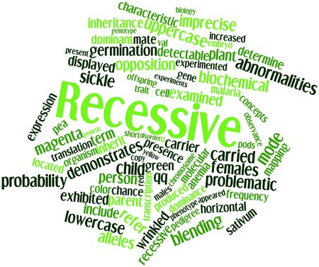 Abstract word cloud for Recessive with related tags and terms Stock Photo - 17023921
