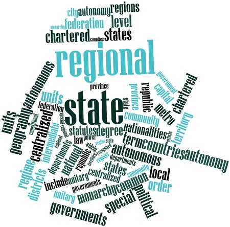 Abstract word cloud for Regional state with related tags and terms Stock Photo - 17023994