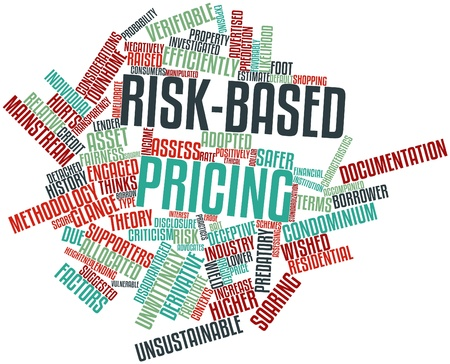 negatively: Abstract word cloud for Risk-based pricing with related tags and terms