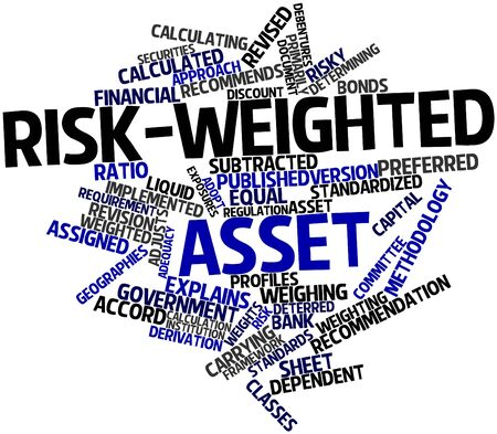weighted: Abstract word cloud for Risk-weighted asset with related tags and terms