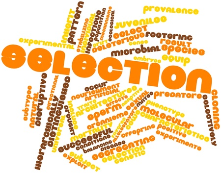 deleterious: Abstract word cloud for Selection with related tags and terms Stock Photo