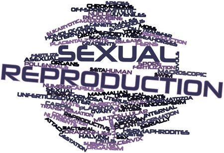 Abstract word cloud for Sexual reproduction with related tags and terms Stok Fotoğraf