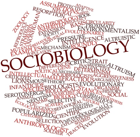popularized: Abstract word cloud for Sociobiology with related tags and terms