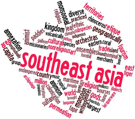 annexation: Abstract word cloud for Southeast Asia with related tags and terms