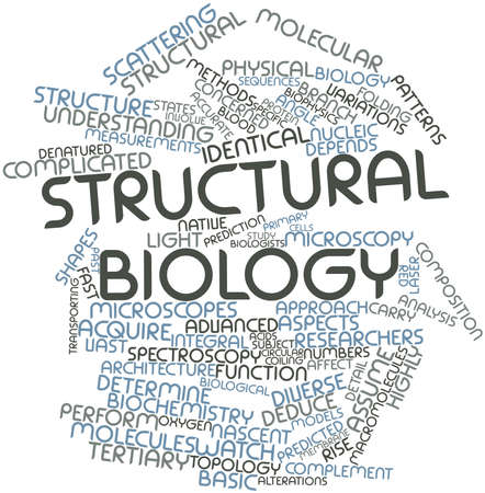 predicted: Abstract word cloud for Structural biology with related tags and terms