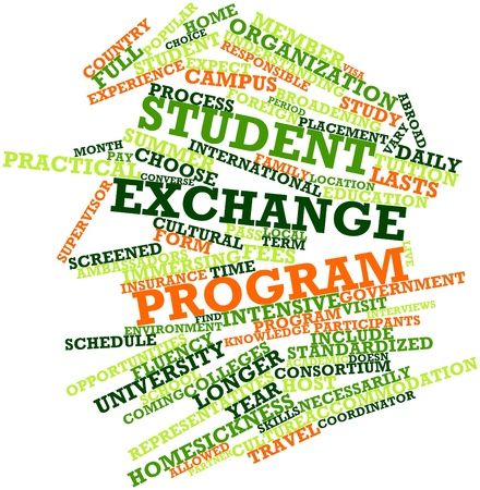 fluency: Abstract word cloud for Student exchange program with related tags and terms