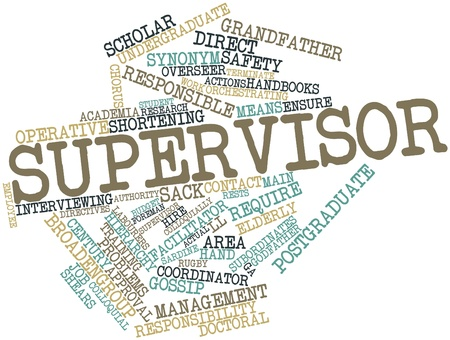 Abstract word cloud for Supervisor with related tags and terms Stock Photo - 17021316