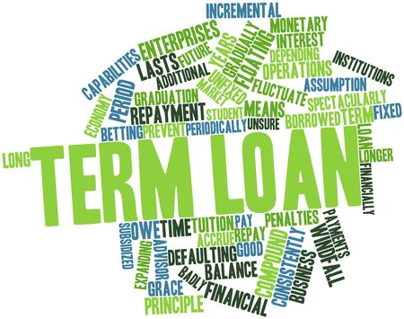 incremental: Abstract word cloud for Term loan with related tags and terms