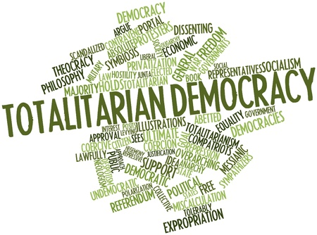 Abstract word cloud for Totalitarian democracy with related tags and terms