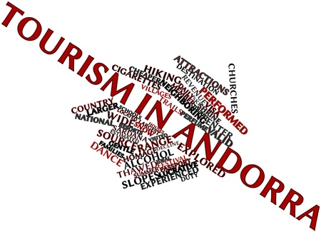 neighboring: Abstract word cloud for Tourism in Andorra with related tags and terms