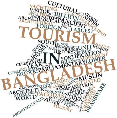 relic: Abstract word cloud for Tourism in Bangladesh with related tags and terms