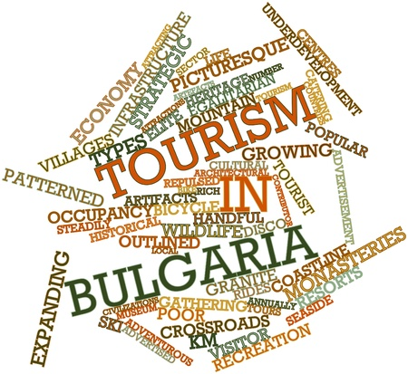 bulgaria: Abstract word cloud for Tourism in Bulgaria with related tags and terms