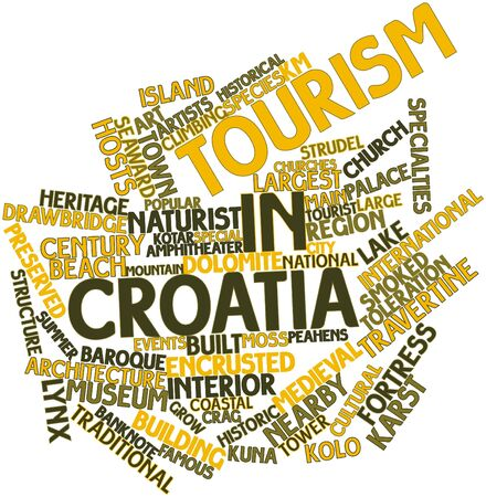 renown: Abstract word cloud for Tourism in Croatia with related tags and terms