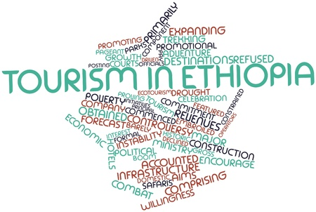 initiatives: Abstract word cloud for Tourism in Ethiopia with related tags and terms