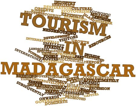 Abstract word cloud for Tourism in Madagascar with related tags and terms Stock Photo - 17024199