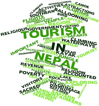Abstract word cloud for Tourism in Nepal with related tags and terms Stock Photo - 17023726