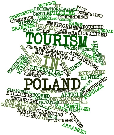 characterised: Abstract word cloud for Tourism in Poland with related tags and terms