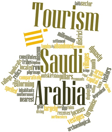 focuses: Abstract word cloud for Tourism in Saudi Arabia with related tags and terms