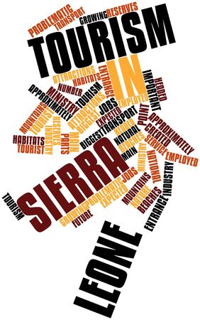 main entrance: Abstract word cloud for Tourism in Sierra Leone with related tags and terms