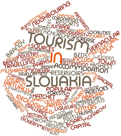 Abstract word cloud for Tourism in Slovakia with related tags and terms Stock Photo - 17029928