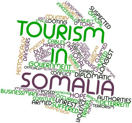 kidnapping: Abstract word cloud for Tourism in Somalia with related tags and terms
