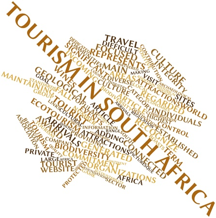Abstract word cloud for Tourism in South Africa with related tags and terms