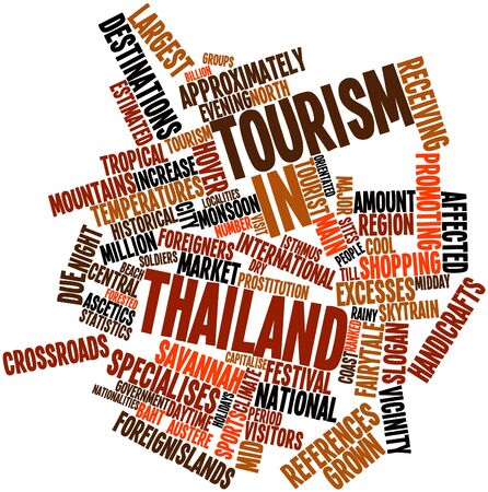 localities: Abstract word cloud for Tourism in Thailand with related tags and terms